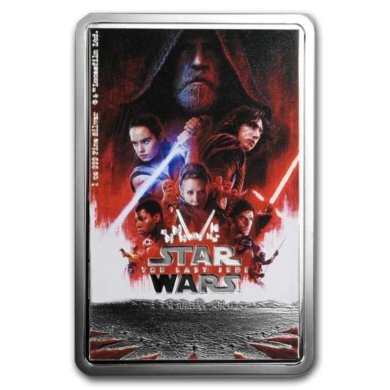 2019 Niue 1 oz Silver $2 Star Wars The Last Jedi Poster