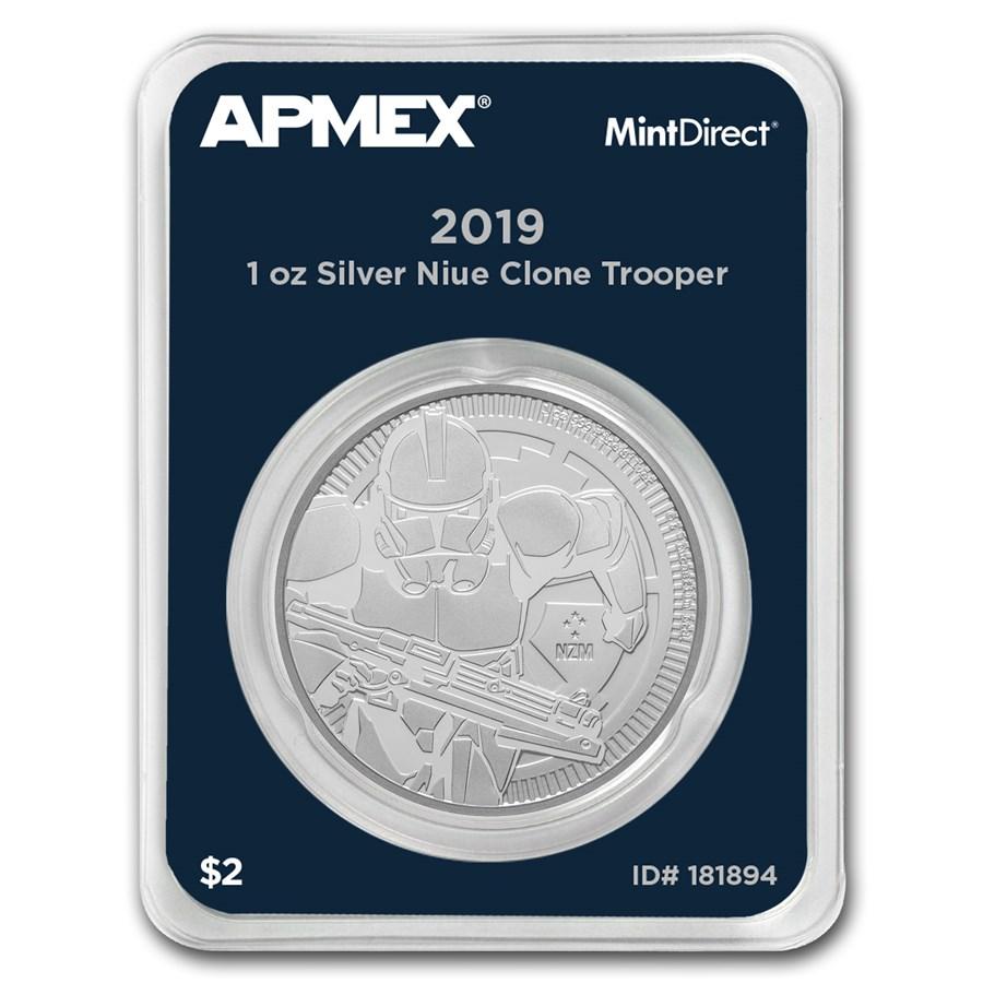 2019 Niue 1 oz Silver Clone Trooper (MintDirect® Single)