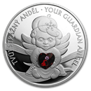 2019 Niue 1 oz Silver Crystal Coin: Guardian Angel