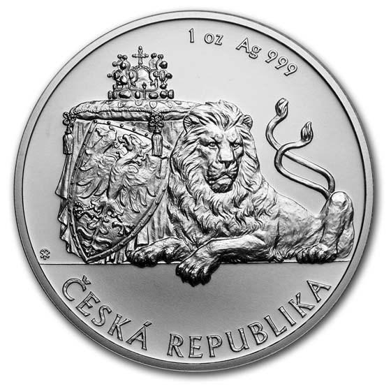 2019 Niue 1 oz Silver Czech Lion BU
