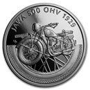 2019 Niue 1 oz Silver Proof Coin on Wheels: Jawa Motorcycle