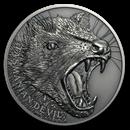 2019 Niue 1 oz Silver Wildlife Up Close (Tasmanian Devil)