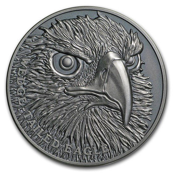 2019 Niue 1 oz Silver Wildlife Up Close (Wedge-Tailed Eagle)
