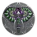 2019 Niue 2 oz Antique Silver Mandala Collection: Elephant