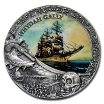 2019 Niue 2 oz Antique Silver Shipwrecks in History: Whydah Gally
