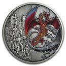 2019 Niue 2 oz Silver $5 Dragons: The Red Dragon