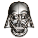 2019 Niue 2 oz Silver $5 Star Wars Darth Vader Helmet UHR