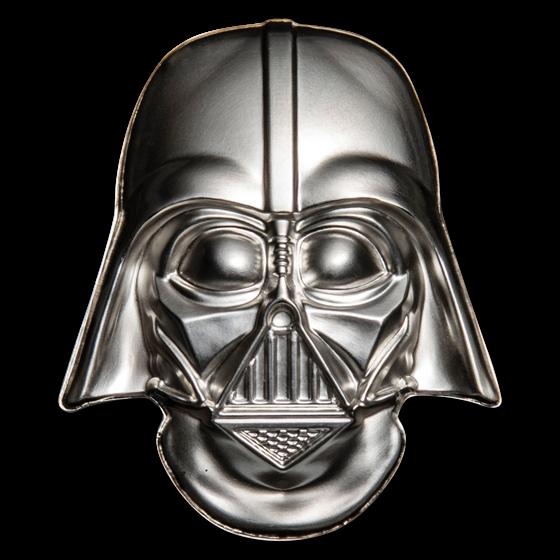 2019 Niue 2 oz Silver $5 Star Wars Darth Vader Helmet UHR