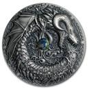 2019 Niue 2 oz Silver Antique Dragons (Norse Dragon)