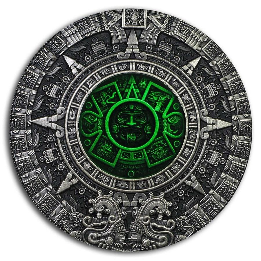 2019 Niue 2 oz Silver Aztec Calendar