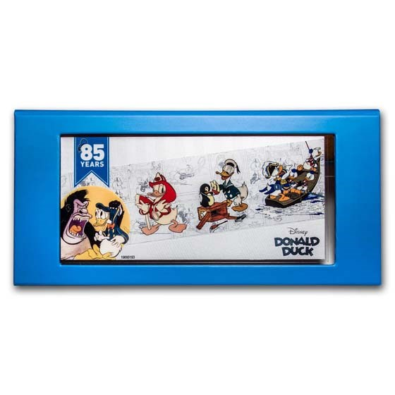 2019 Niue 5 gram Silver $1 Donald Duck 85th Anniversary Foil Note