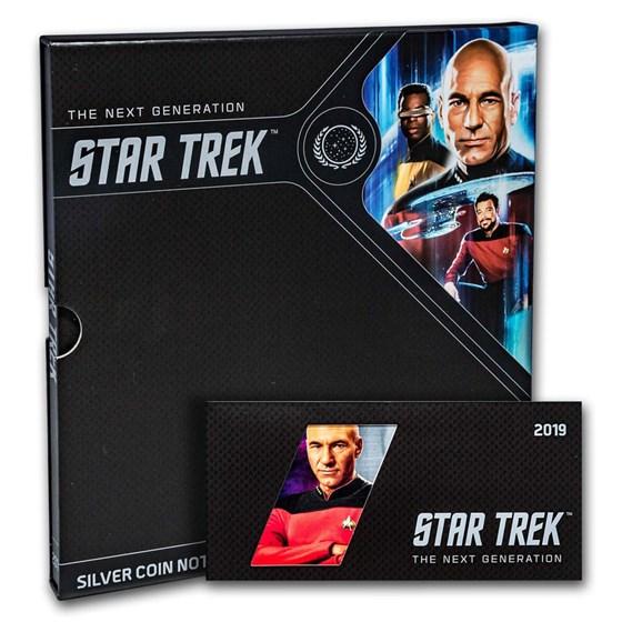 2019 Niue 5 gram Silver $1 Note Star Trek Captain Picard w/Album