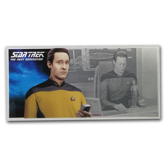 2019 Niue 5 gram Silver $1 Note Star Trek Data