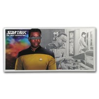 2019 Niue 5 gram Silver $1 Note Star Trek Geordi La Forge