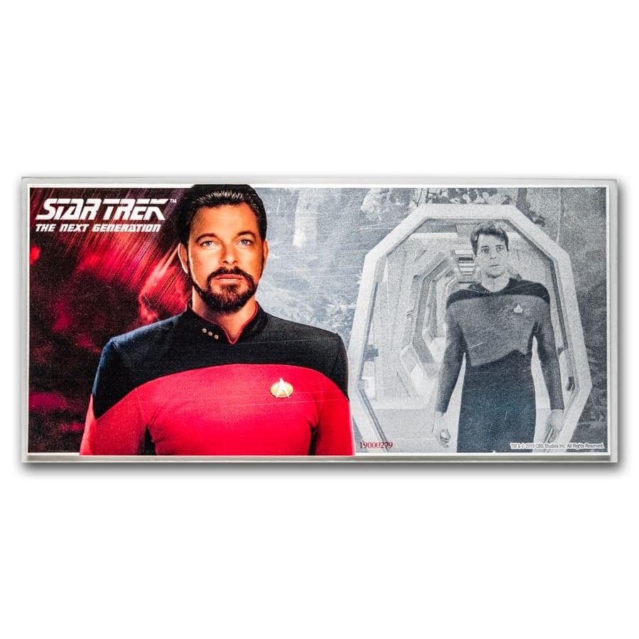 2019 Niue 5 gram Silver $1 Note Star Trek Riker