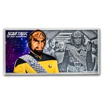 2019 Niue 5 gram Silver $1 Note Star Trek Worf
