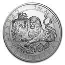 2019 Niue 5 oz Silver Czech Lion BU