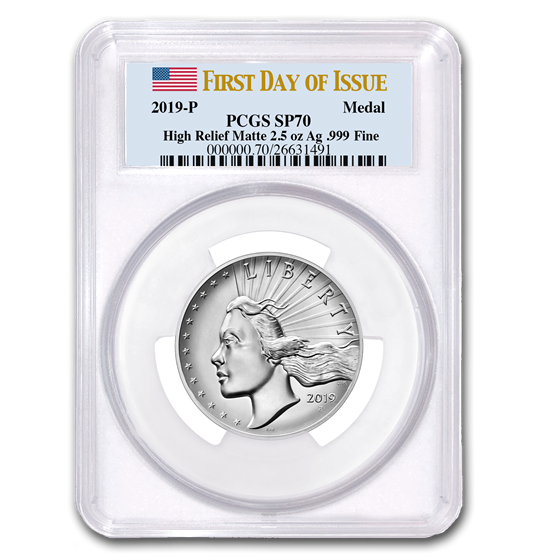 2019-P 2.5 oz Silver American Liberty SP-70 Matte PCGS (FDOI)