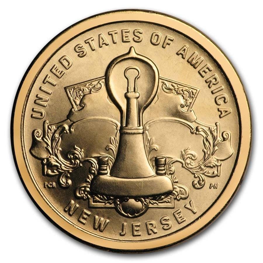 2019-P American Innovation $1 Edisons Light Bulb BU (NJ)