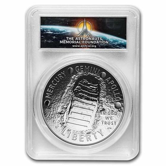 2019-P Apollo 11 50th Anniversary $1 5 oz Silver PR-69 PCGS (FS)
