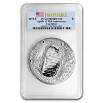 2019-P Apollo 11 50th Anniversary $1 5 oz Silver PR-70 PCGS (FS)