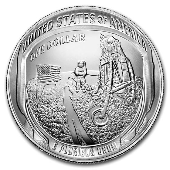 2019-P Apollo 11 50th Anniversary $1 Silver BU (Box & COA)