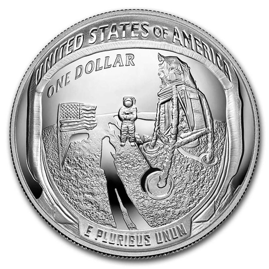 2019-P Apollo 11 50th Anniversary $1 Silver Proof (Box & COA)