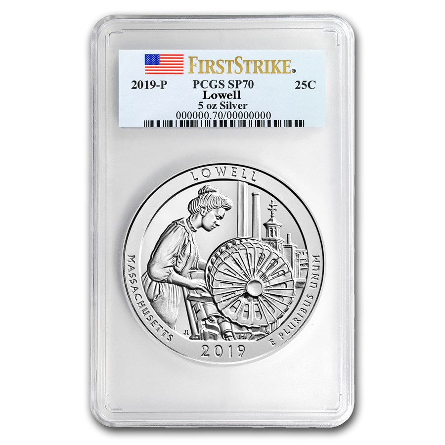 2019-P Silver ATB Lowell National Historic Park SP-70 PCGS (FS)