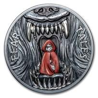 2019 Palau 2 oz Antique Silver Fear Tales: Little Red Riding Hood