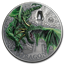 2019 Palau 2 oz Silver Mythical Creatures Collection Green Dragon