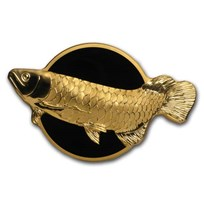 2019 Palau 2 oz Silver Shaped Dragonfish (Golden Arowana)