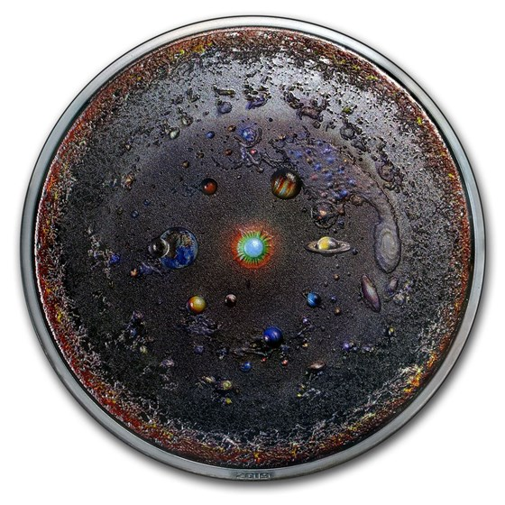 2019 Palau 3 oz Silver Space The Final Frontier: The Universe