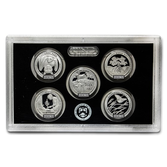 2019-Present Quarters Silver Proof Sets (Random, Plastic Only)