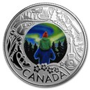 2019 RCM 1/4 oz Ag $3 Celebrating Canadian Fun: Aurora Borealis