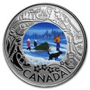 2019 RCM 1/4 oz Ag $3 Celebrating Canadian Fun: Christmas Tree