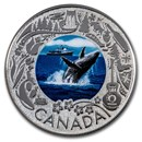 2019 RCM 1/4 oz Ag $3 Celebrating Canadian Fun: Whale Watching