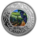 2019 RCM 1/4 oz Silver $3 Celebrating Canadian Fun: Wine Tasting
