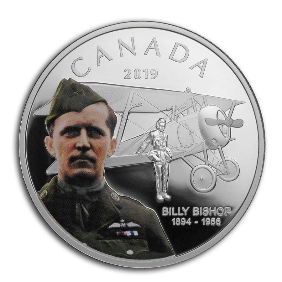 2019 RCM 1 oz Silver $20 125th Anniversary Birth of Billy Bishop