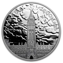 2019 RCM 1 oz Silver $20 Lights on Parliament Hill