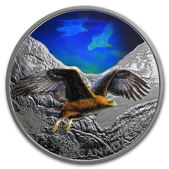 2019 RCM 2 oz Ag $30 Majestic Birds in Motion: Golden Eagle