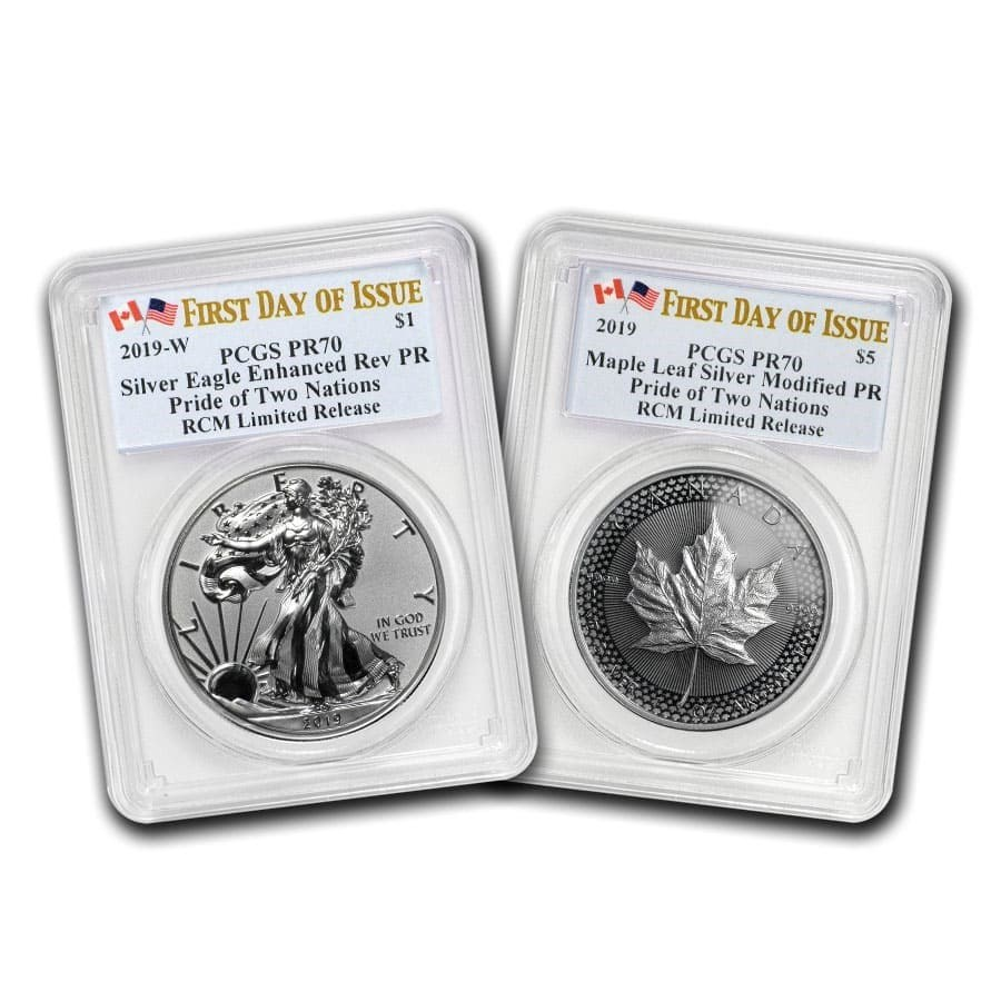 2019 RCM Pride of Two Nations 2-Coin Set PR-70 PCGS (FD)