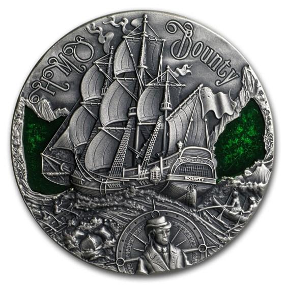 2019 Republic of Cameroon 2 oz Silver HMS Bounty