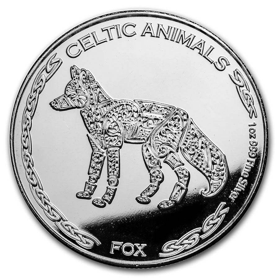 2019 Republic of Chad 1 oz Silver Celtic Animals: Fox