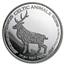 2019 Republic of Chad 1 oz Silver Irish Red Deer (Abrasions)