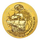 2019 Rwanda 1 oz Gold Nautical Ounce Victoria BU