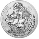 2019 Rwanda 1 oz Silver Nautical Ounce Victoria BU