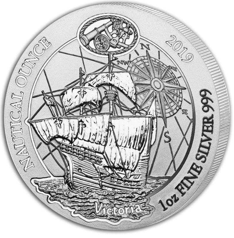 2019 Rwanda 1 oz Silver Nautical Ounce Victoria BU