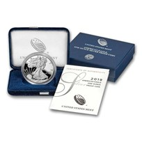 2019-S 1 oz Proof American Silver Eagle (w/Box & COA)