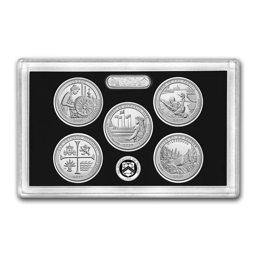 2019-S America the Beautiful Quarters Silver Proof Set