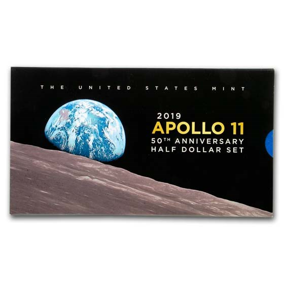 2019-S Apollo 11 50th Anniversary 1/2 Dollar Proof Set